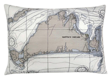 Load image into Gallery viewer, Martha's Vineyard Nautical Map Pillow Cover