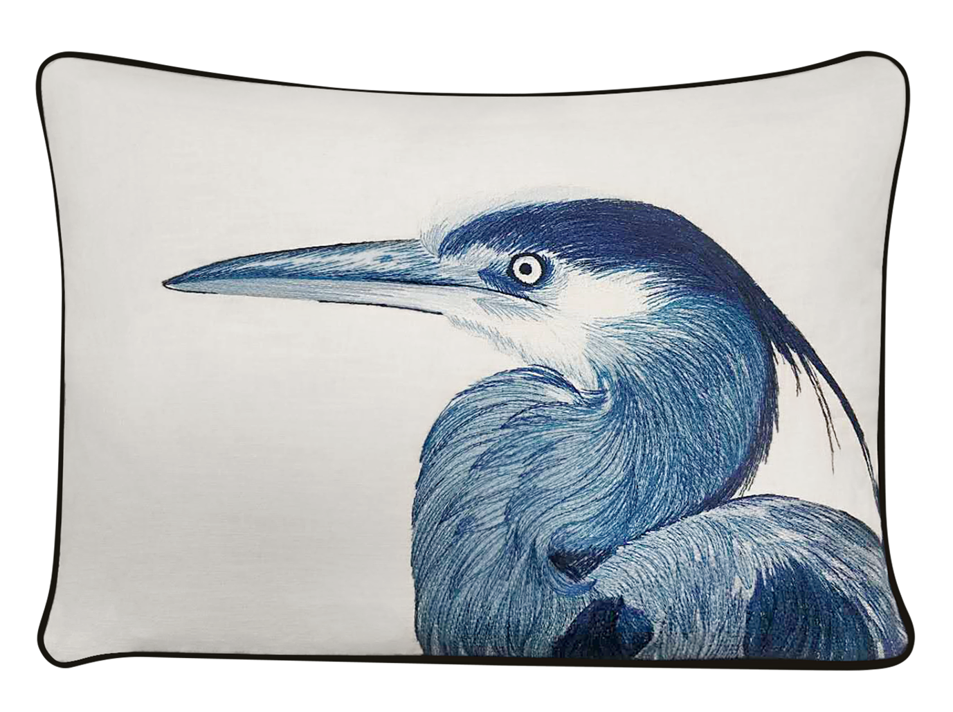 Heron Head Pillow Cover