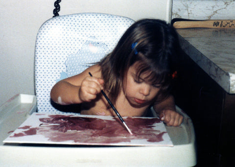 Nerd Alert! My brain became wired very early to understand color. I am less than 2 years old in this photo.