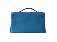 Load image into Gallery viewer, HERMÈS Blue Zanzibar Swift Mini Kelly Pochette