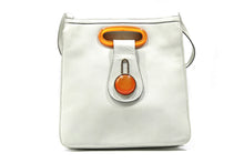 Load image into Gallery viewer, LOEWE orange Bakelite and leather shoulder bag
