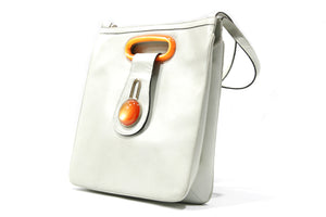 LOEWE orange Bakelite and leather shoulder bag