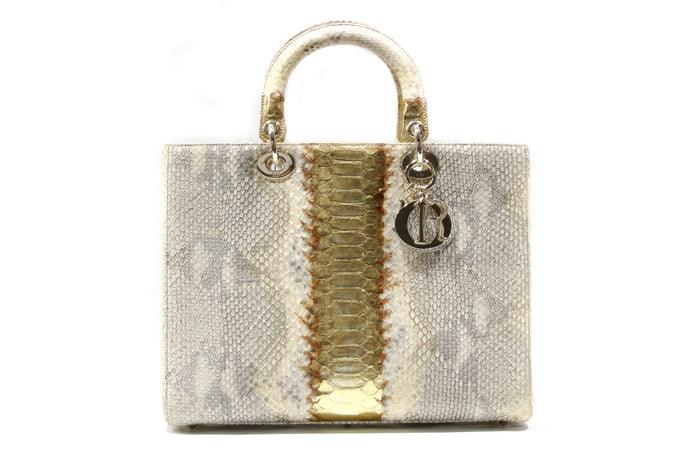 CHRISTIAN DIOR – Lady Dior Python Limited Edition Bag