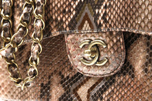 Load image into Gallery viewer, CHANEL Brown Timeless Python shoulder bag