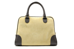 LOEWE Large Gold Suede Amazona 75 Bag
