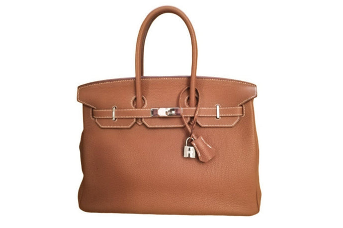 HERMÈS Birkin 35 Camel Togo leather handbag