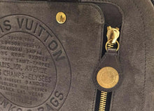 Load image into Gallery viewer, LOUIS VUITTON Limited Edition Grey Suede Havane Stamped Trunk GM Bag