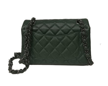 Load image into Gallery viewer, CHANEL New Mini Green Quilted Lambskin Classic Flap Bag