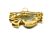 Load image into Gallery viewer, TROPICAL fish brooch Plique à-Jour enamel and 18K gold