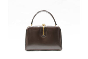 FERNANDE DESGRANGES 50's brown leather handbag