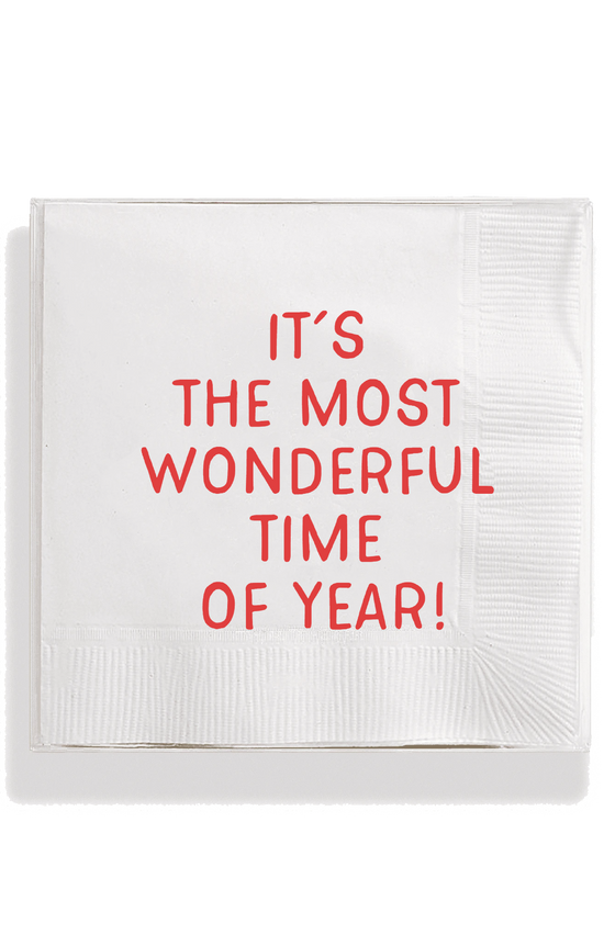 Bens Garden | It's The Most Wonderful Time Of Year Amusing Cocktail Napkins