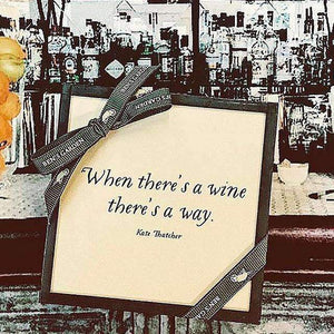 Ben's Garden | When There's A Wine, There's a Way Copper & Glass Coasters, Set of 4