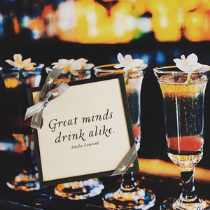 Ben's Garden | Great Minds Drink Alike Copper & Glass Coasters, Set of 4