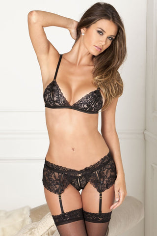 Fine Lace Crotchless Set - Tiaz Boutique