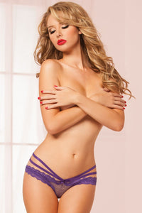 Laila Crotchless Panty - Purple - Tiaz Boutique