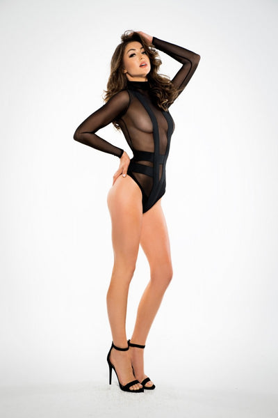 Sheer Seduction Bodysuit - Tiaz Boutique