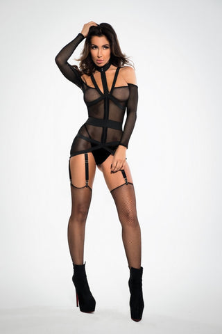 See Through Me Corset Chemise - Tiaz Boutique
