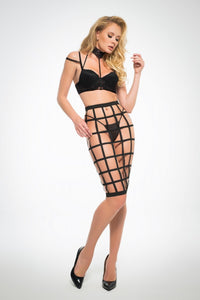 Luscious Cage Skirt Set - Tiaz Boutique