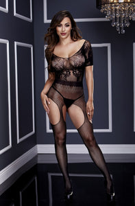Webbed Crotchless Bodystocking - Tiaz Boutique