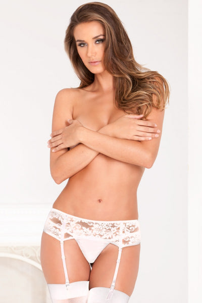 Angel Lace Garter - White - Tiaz Boutique
