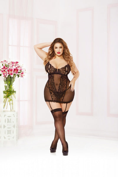 Naughty Girl Chemise - Black - Tiaz Boutique