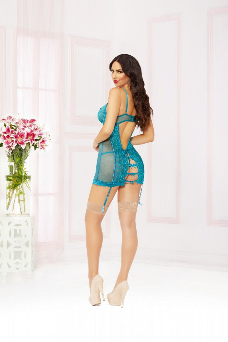 Naughty Girl Chemise - Teal - Tiaz Boutique