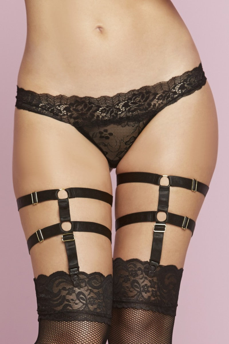 Double Trouble Harness Garter - Tiaz Boutique