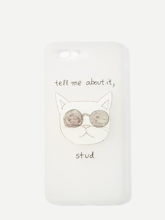 Tell me about it - iPhone Hoesje (iPhone 6 tot X) - Purrriceless