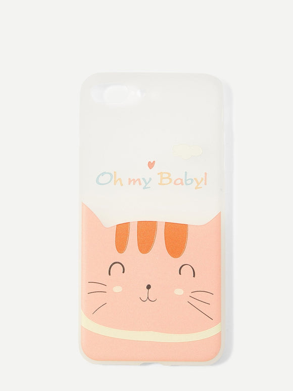 Oh my baby! - iPhone Hoesje (iPhone 6 tot X) - Purrriceless