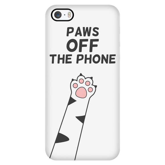 Paws OFF! - iPhone Hoesje (iPhone 5 tot 8 Plus) - Purrriceless