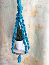 Load image into Gallery viewer, Macramé Plant Hanger (Ocean Water)