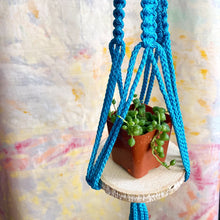 Load image into Gallery viewer, mini Macramé Plant Hanger (Ocean Water)