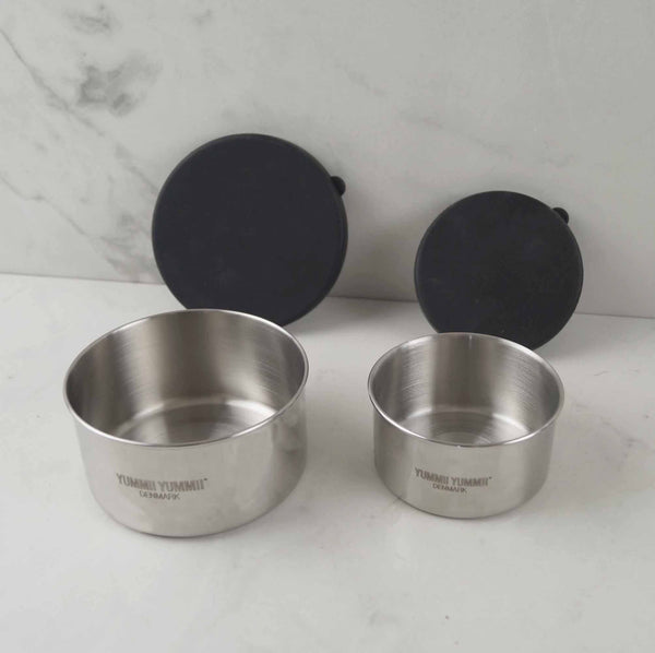 Yummii Yummii Bento Rounds Small/Medium Bento Rounds Stainless Steel 18/8