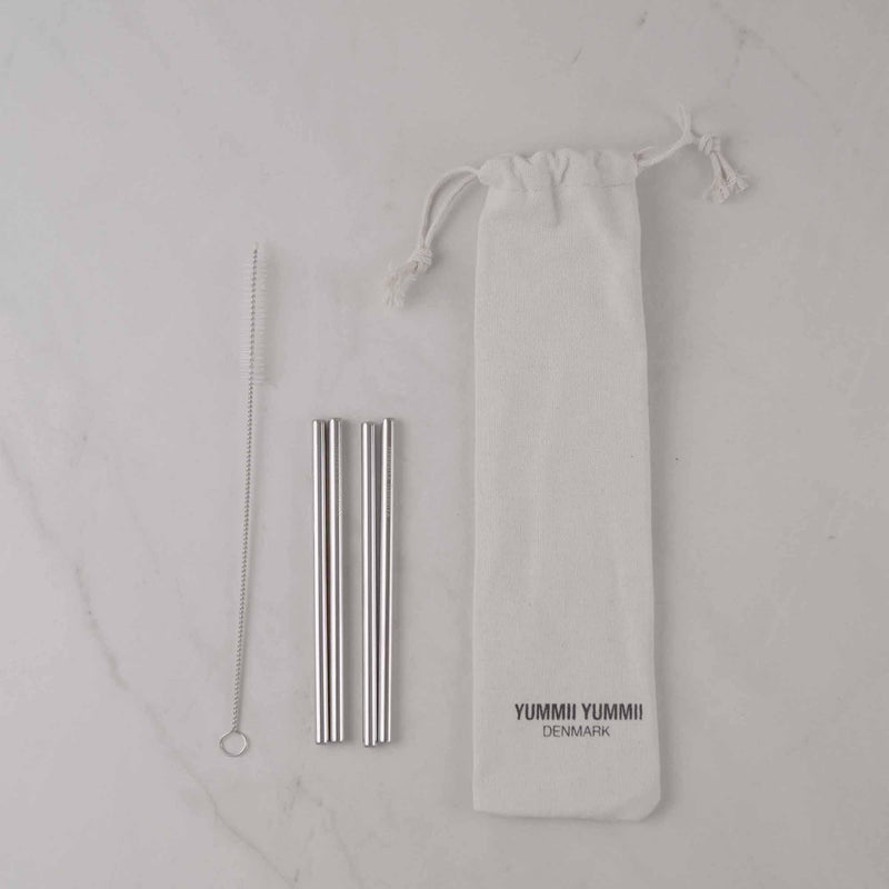 Yummii Yummii Stålsugerør 4-pak Cocktail Reusable Straws Stainless Steel 18/8