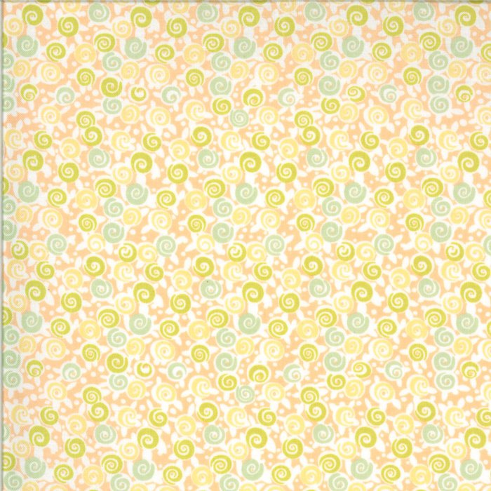 Peach Floral Lollipops Fabric