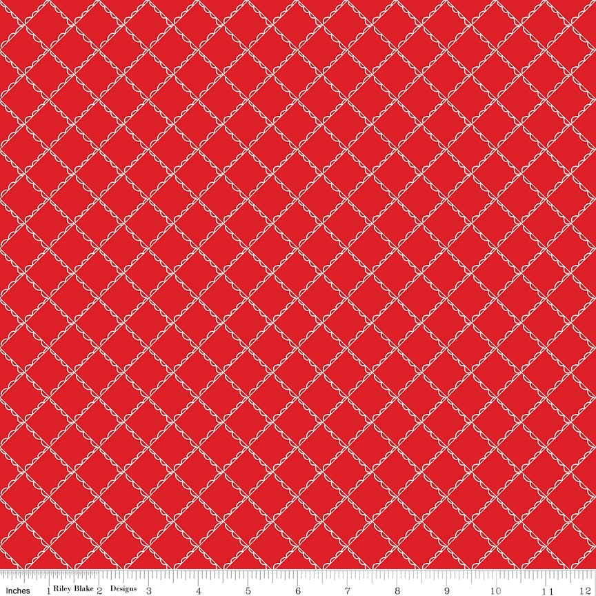 Red Ruffle Plaid Fabric from Simple Goodness Collection at Cherry Creek Fabric