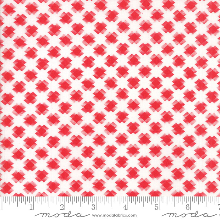 White Gingham Kisses Fabric from REDiculously Red Collection at Cherry Creek Fabric