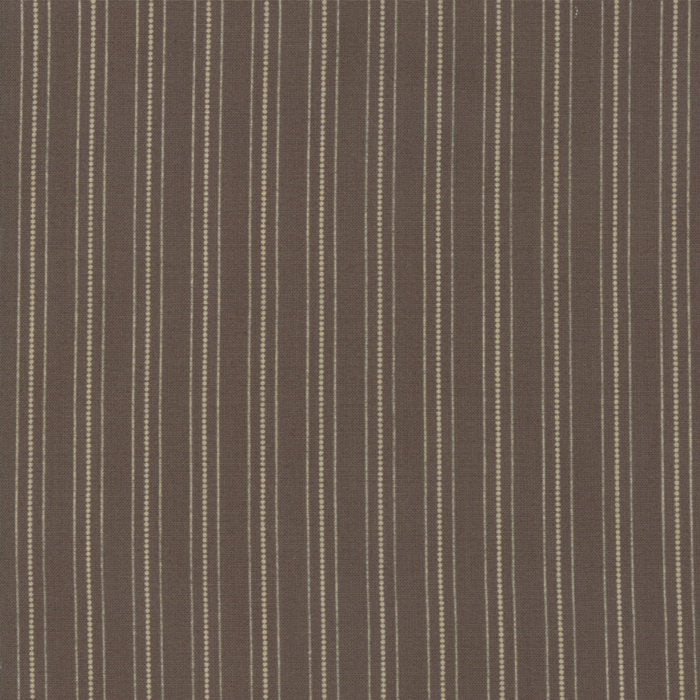Brown Country Stripes Fabric