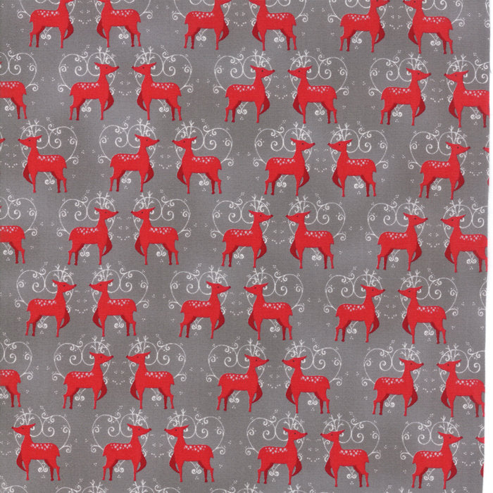 Grey Oh Deer Fabric from Sno Collection at Cherry Creek Fabric