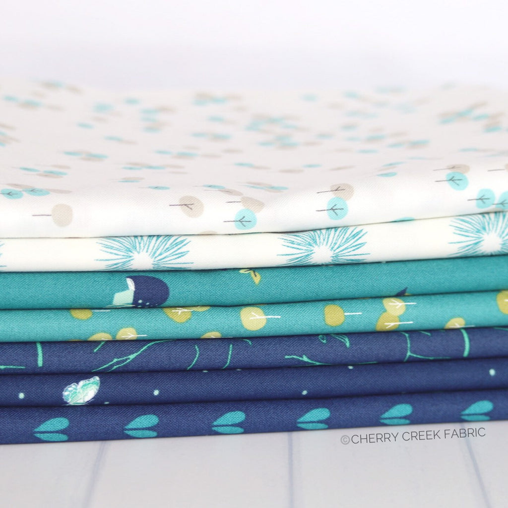 Woodland Secrets Blue One Yard Bundle from Woodland Secrets Collection at Cherry Creek Fabric