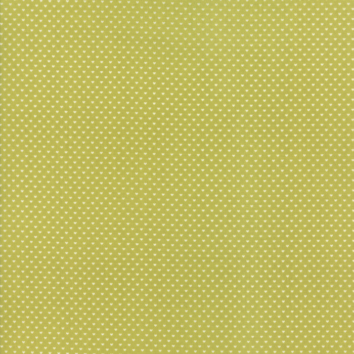 Green Swiss Heart Fabric from Home Sweet Home Collection at Cherry Creek Fabric