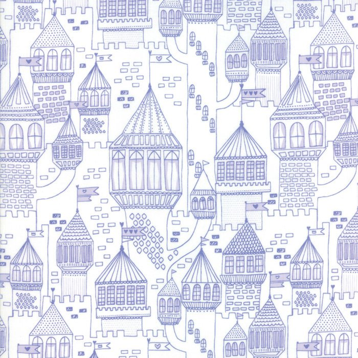 Purple Castle Fabric from Once Upon a Time Collection at Cherry Creek Fabric