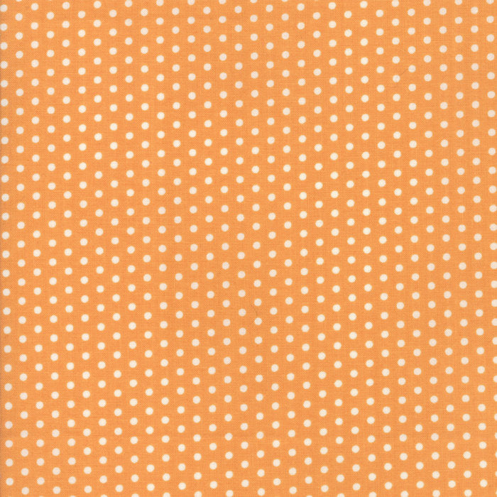 Orange Polka Dots Fabric