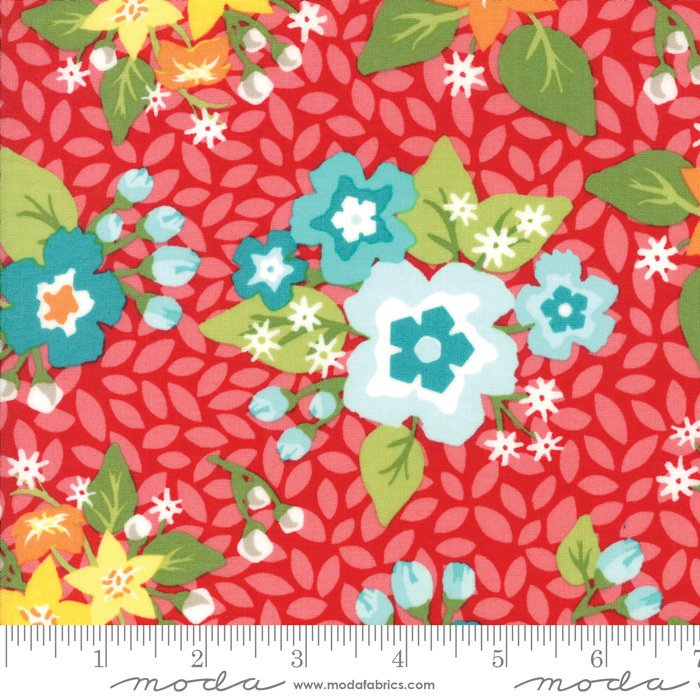 Red Blossom Fabric