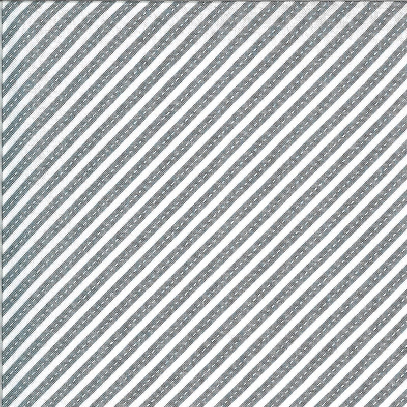 Gray Bias Stripes Fabric | On the Go