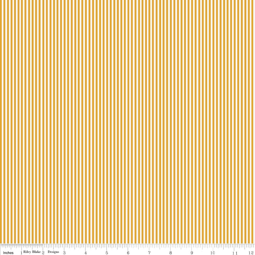 Mustard Stripe Fabric