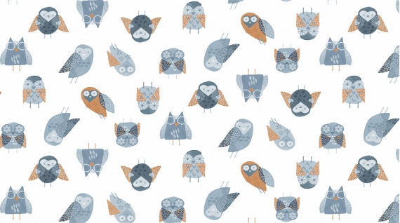 Owls Fabric from Stay Wild Collection at Cherry Creek Fabric