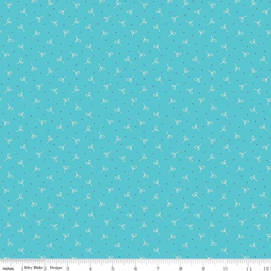 Aqua Seedling Fabric