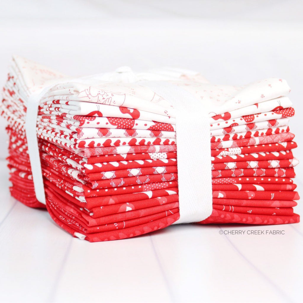 REDiculously In Love Half Yard Bundle from REDiculously Red Collection at Cherry Creek Fabric