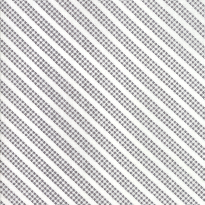 Grey Gingham Stripe Fabric from Sunnyside Up Collection at Cherry Creek Fabric